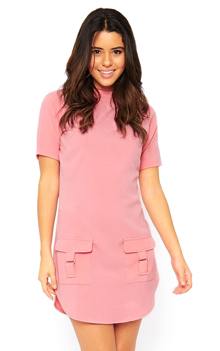 Anastasia Pink Pocket Front Shift Dress 1