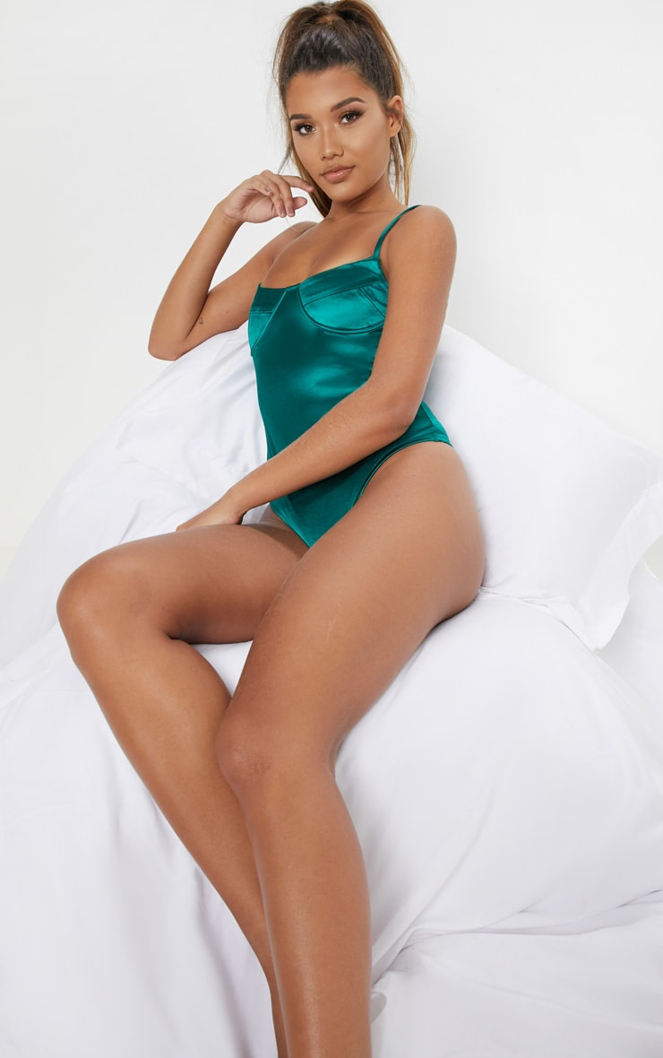 Emerald Stretch Satin Body 5