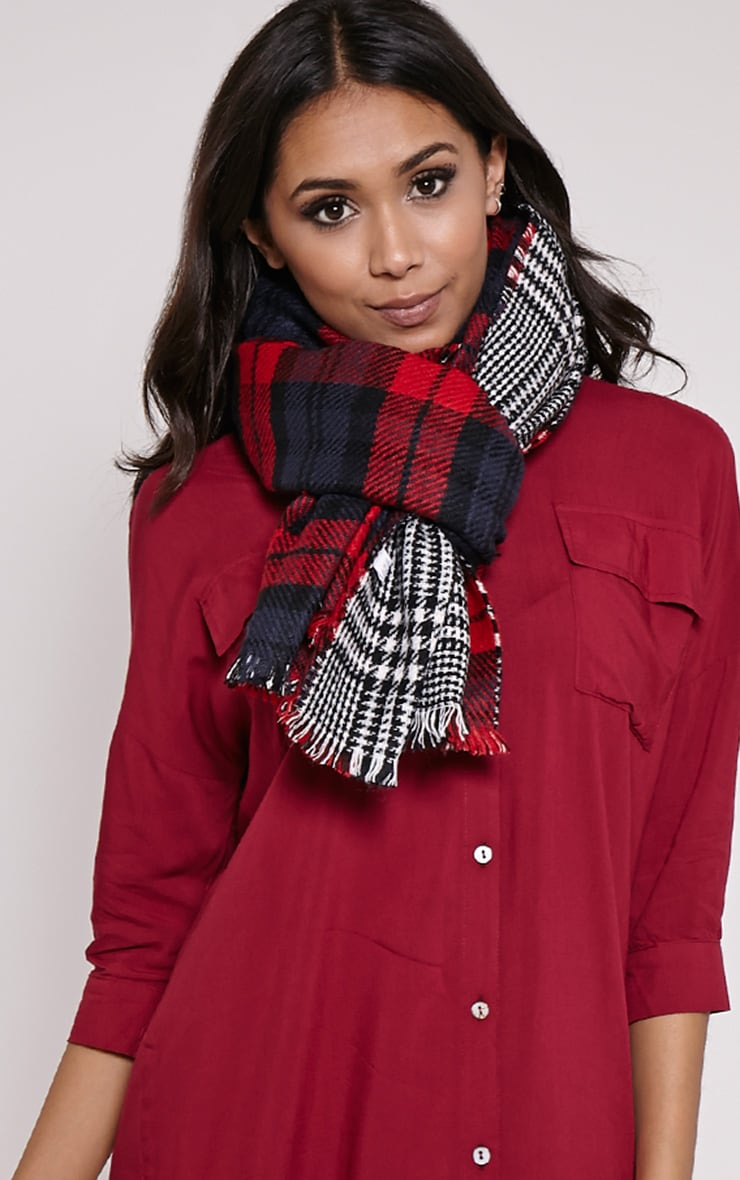 Georgey Multi Check Oversized Scarf 2