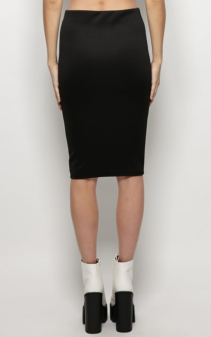 Connie Black Premium Midi Skirt 2