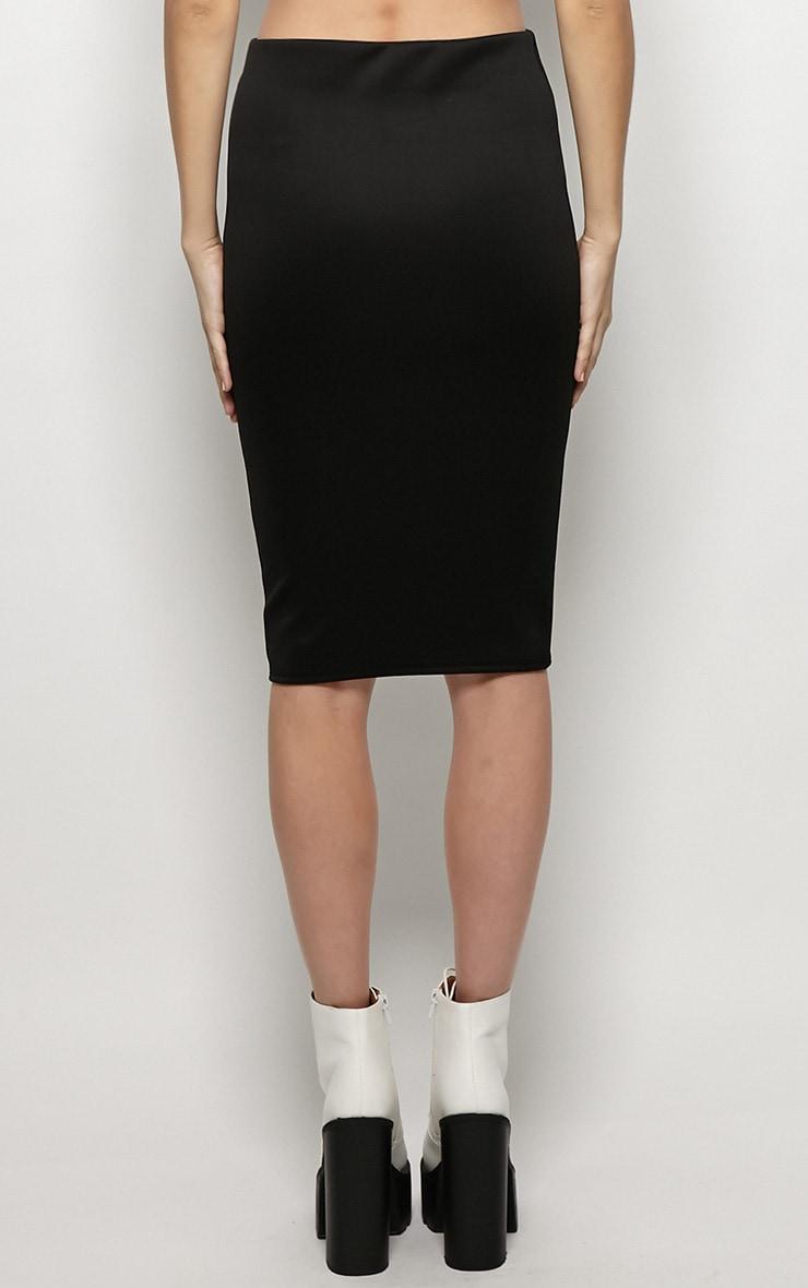 Connie Black Premium Midi Skirt 2