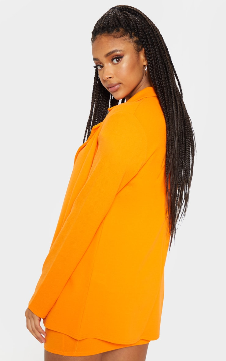 Orange Oversized Blazer 2