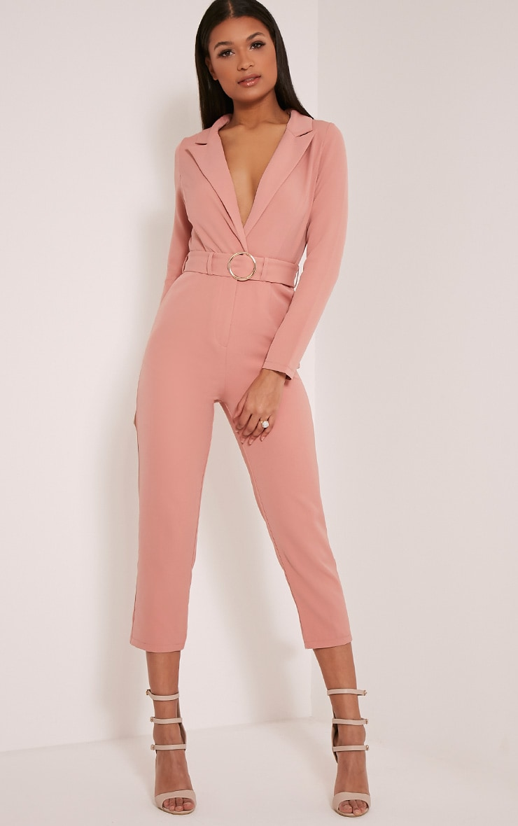 Mell Rose Wrap Buckle Crop Jumpsuit 5