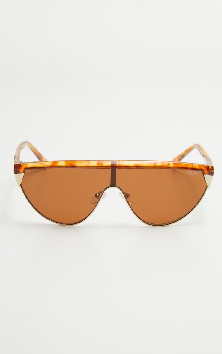 QUAY AUSTRALIA Tortoiseshell  X Elle Ferguson Collaboration Goldie Sunglasses 2