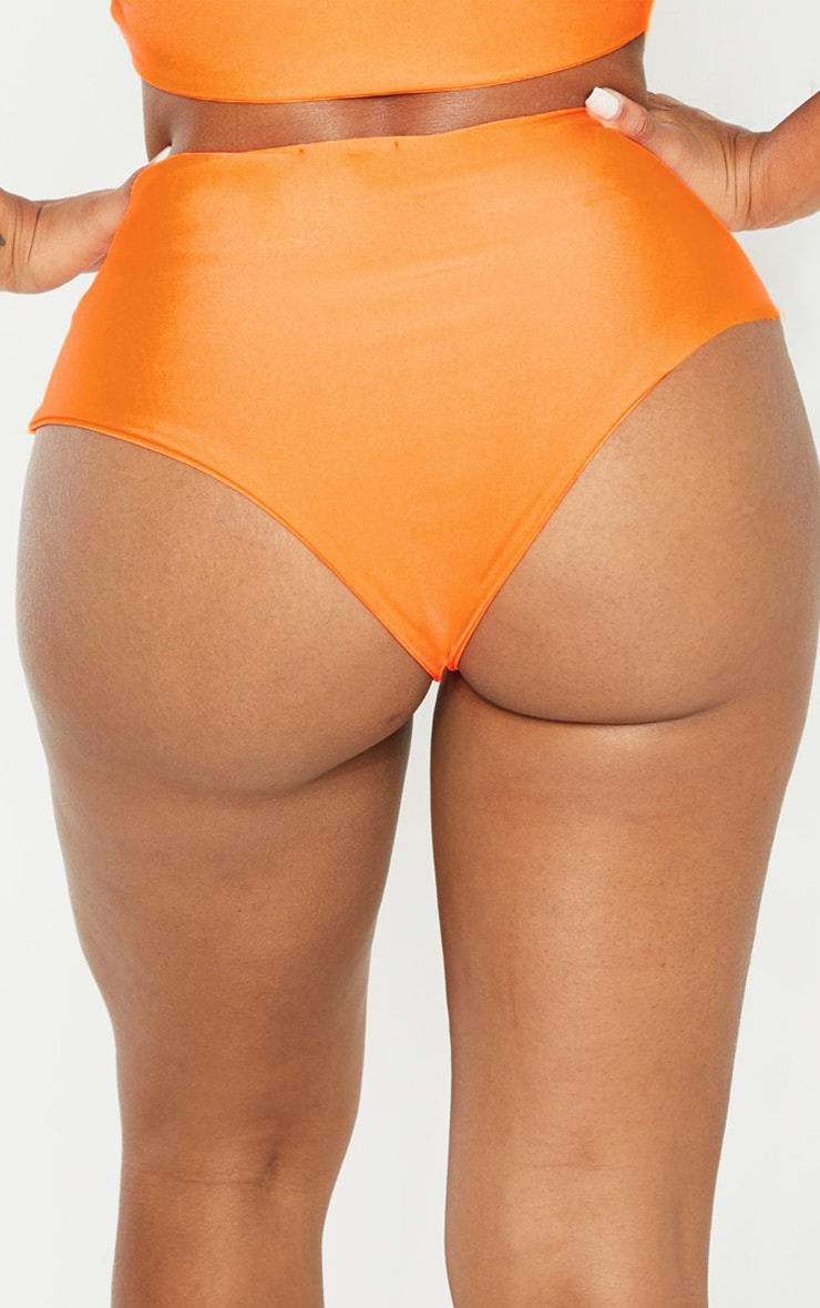 Shape Orange Buckle Waist Bikini Bottom 4