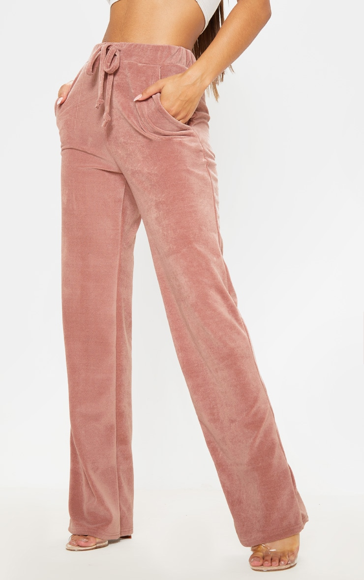 Rose Mix & Match Velour Wide Leg Trouser 2