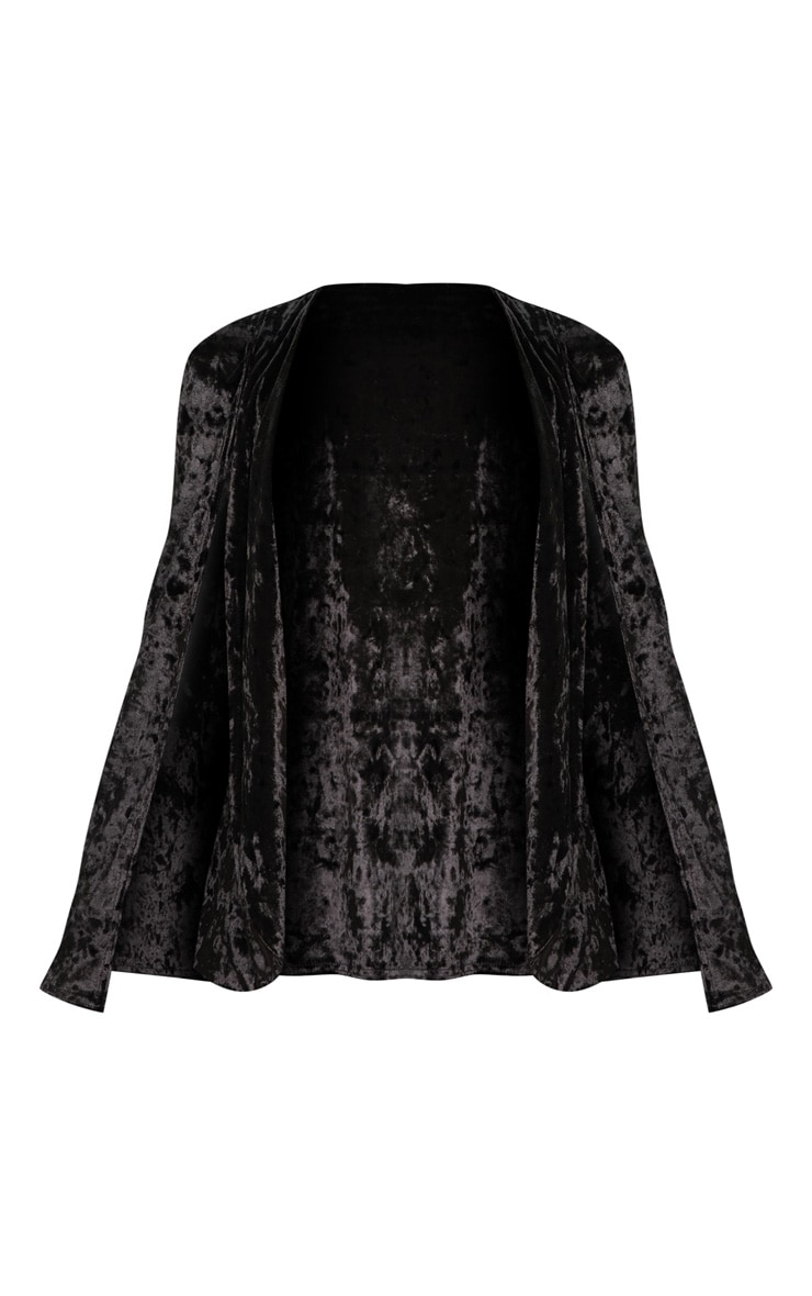 Velvet Black Cape Blazer 3