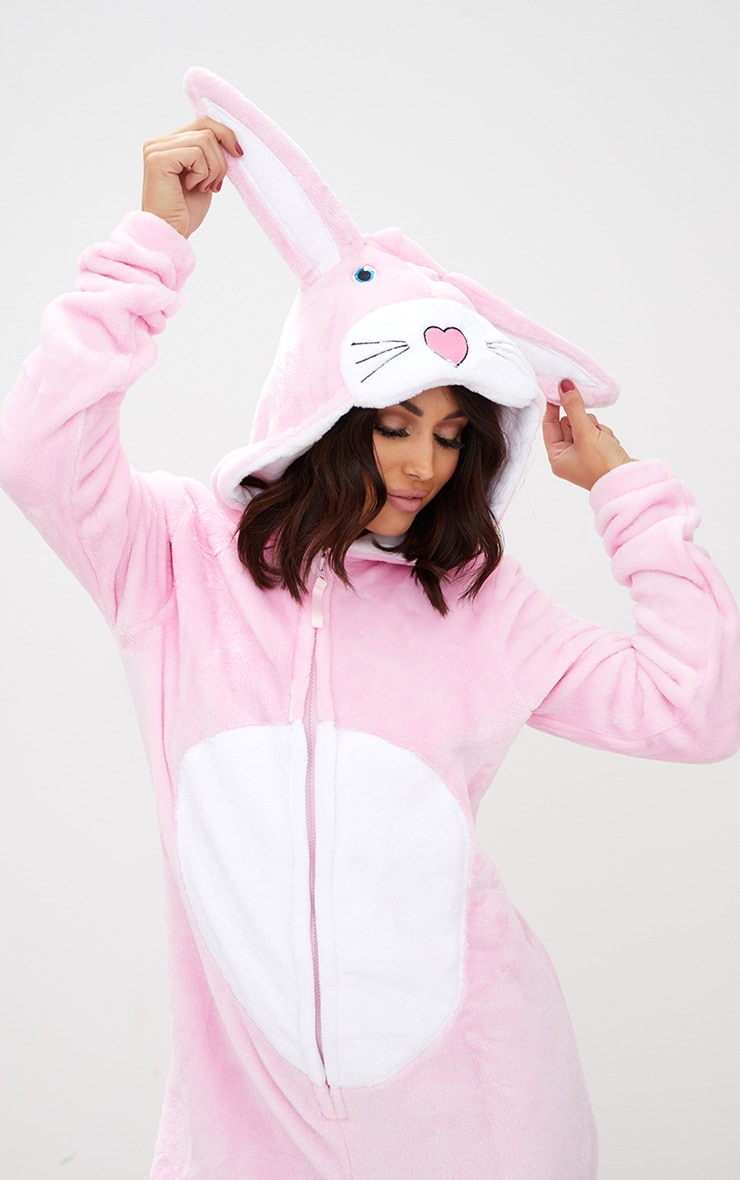 Pink Rabbit Onesie 5