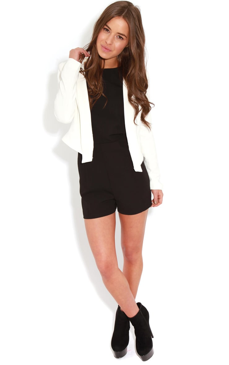 Diana Black Cross Over Playsuit 3