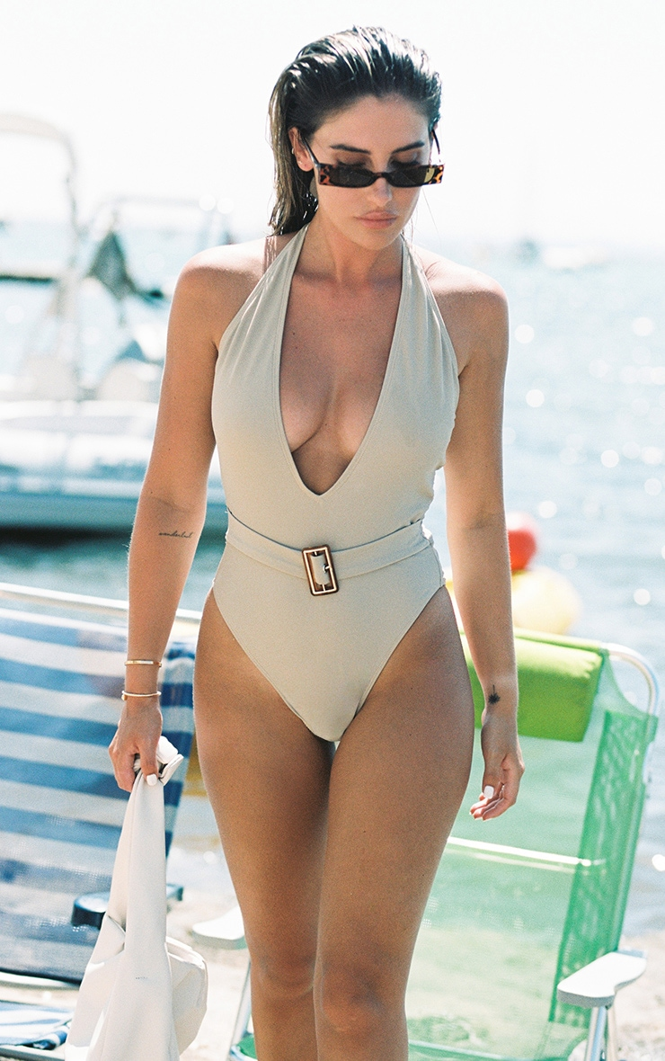 Sand Plunge Belted Swimsuit