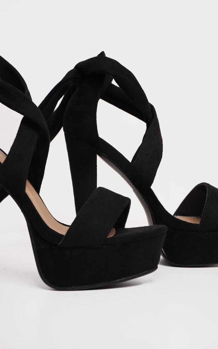 Tria sandales plateformes en imitation daim noires 5