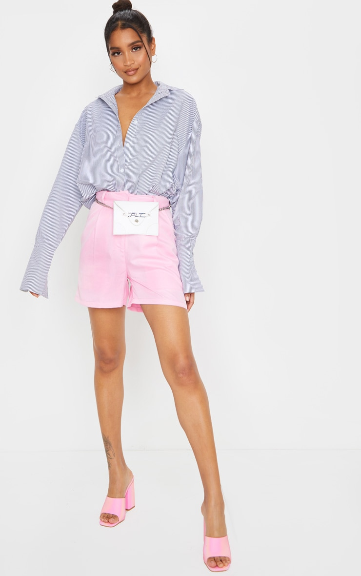 Pink Woven Tailored Short 3
