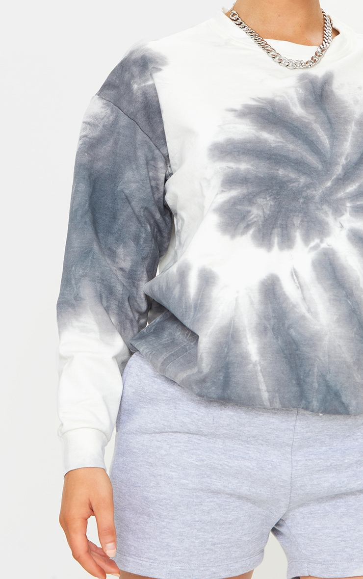 Black Tie Dye Oversized Sweatshirt 4