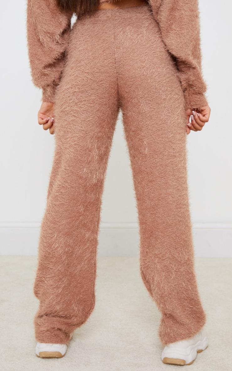 Petite Stone Eyelash Wide Leg Trouser 3