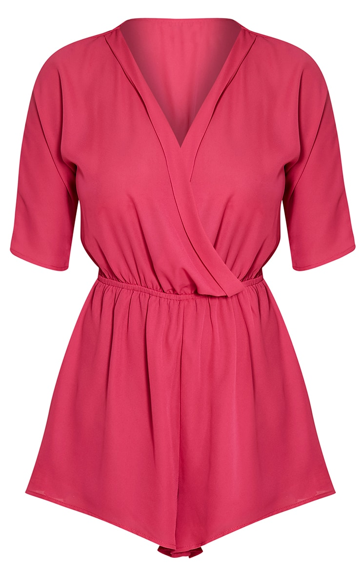 Bobby Hot Pink Wrap Front Playsuit 3