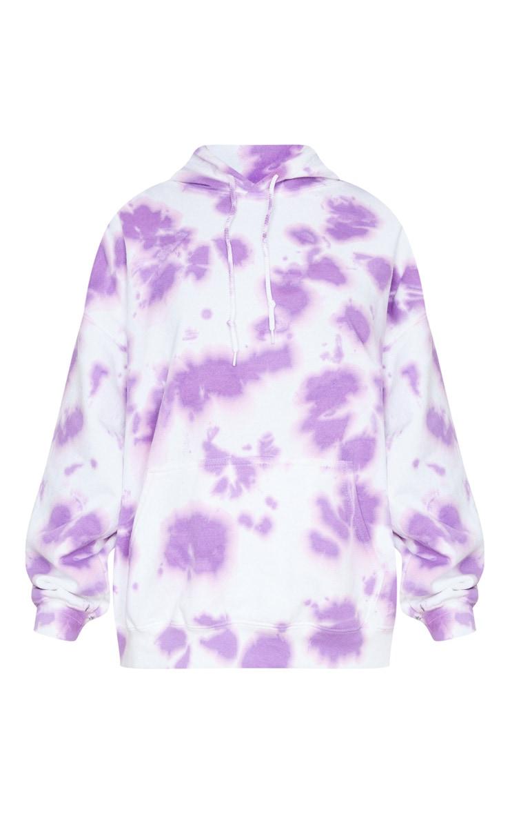 Lilac Tie Dye Oversized Hoodie 5