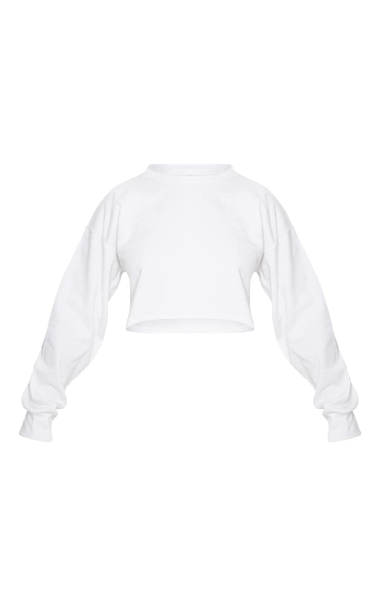 Petite White Raw Edge Cropped Sweater 3