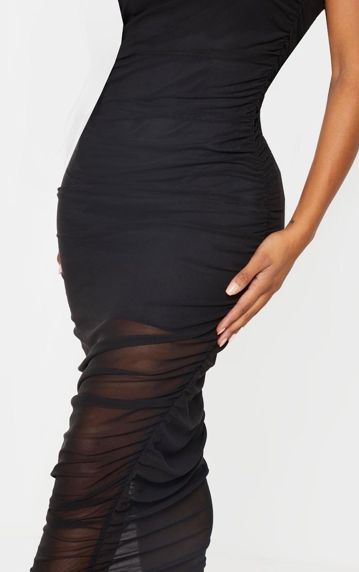 Shape - Robe sans manches mi-longue noire en mesh  5