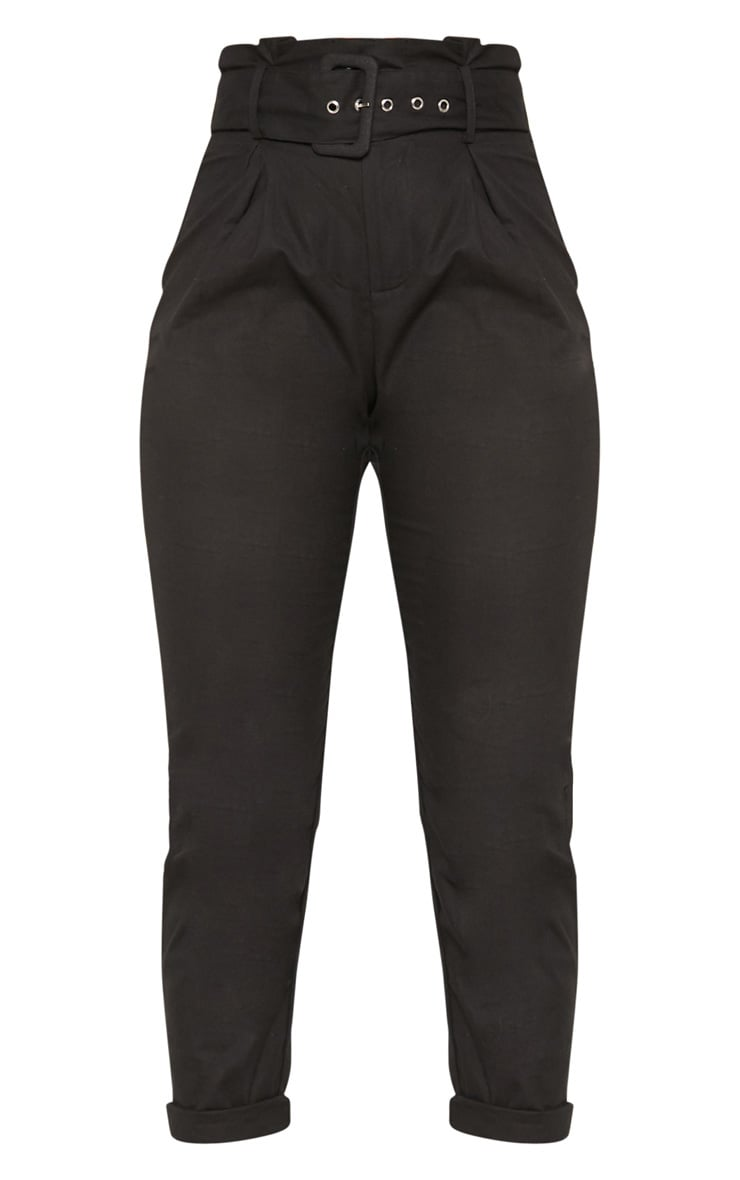 Black Belted Paperbag Tapered Trouser 3