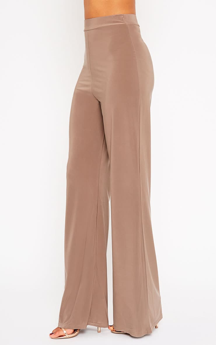 Remi Mocha Soft Touch Wide Leg Trousers 5