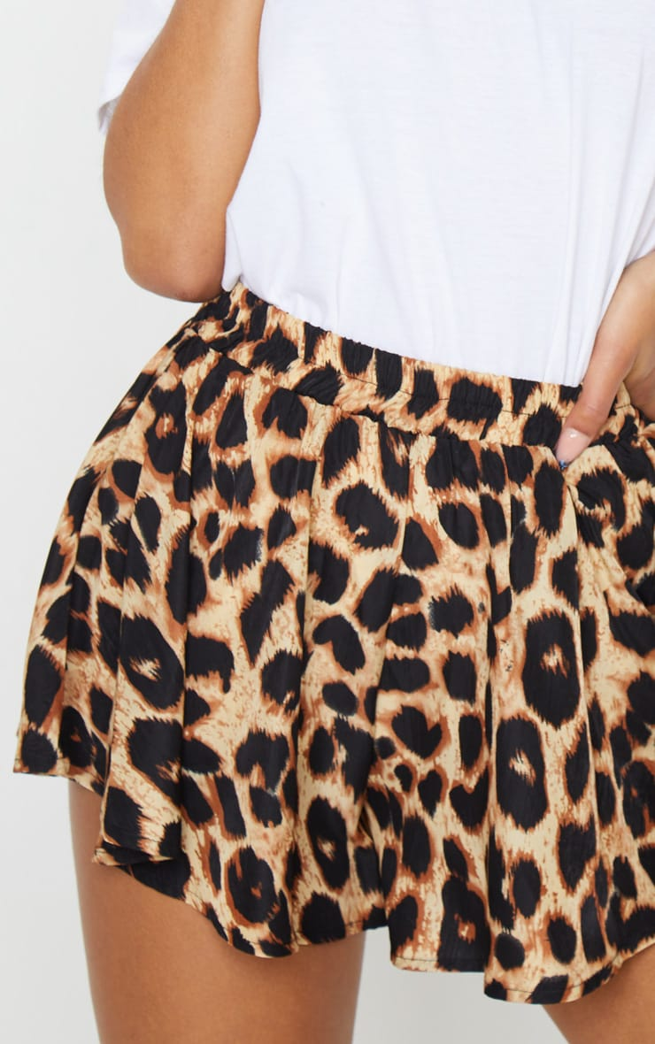Lolita Brown Leopard Print Floaty Shorts 6