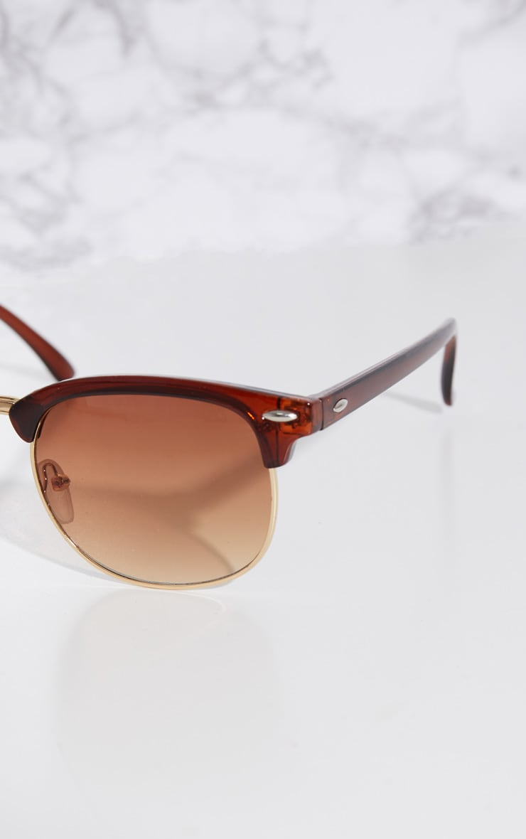 Brown Classic Retro Sunglasses 3