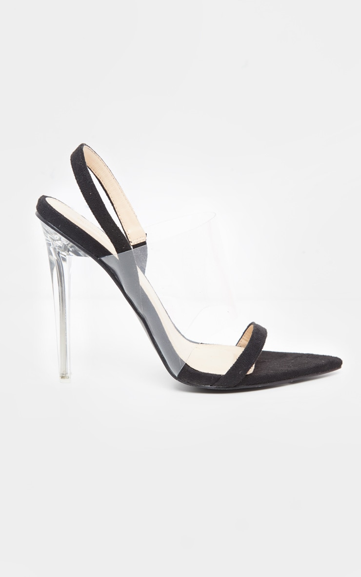 Black Slingback Point Toe Sandal 4