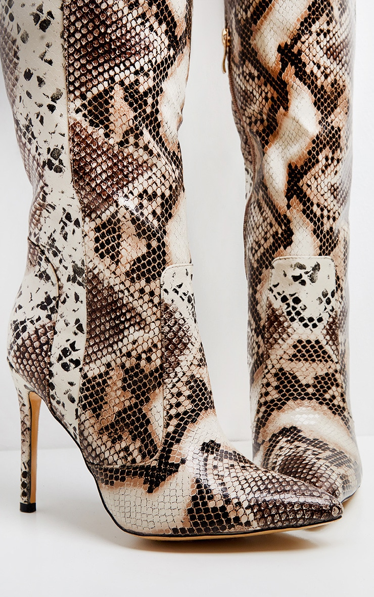 Snake Knee High Boot 3