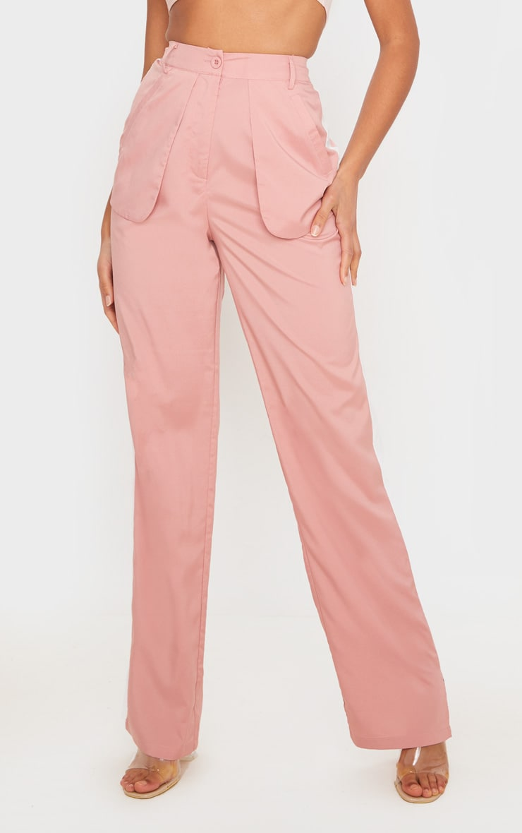 Dusty Pink Inside Out Pocket Trousers 2