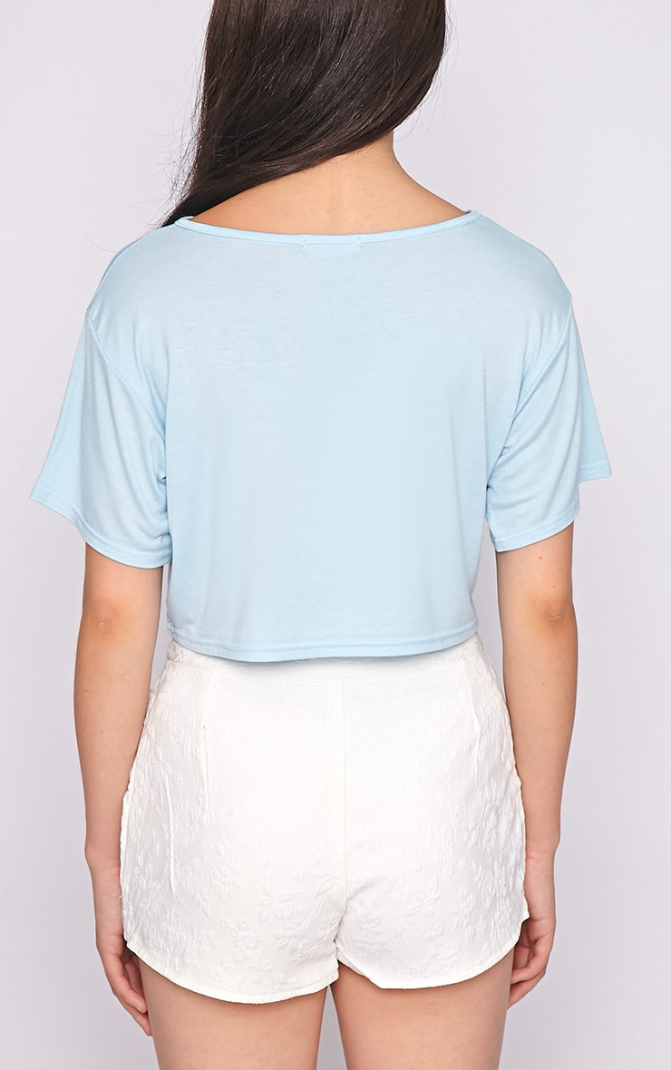 Lucille Blue Boyfriend Crop Top 2
