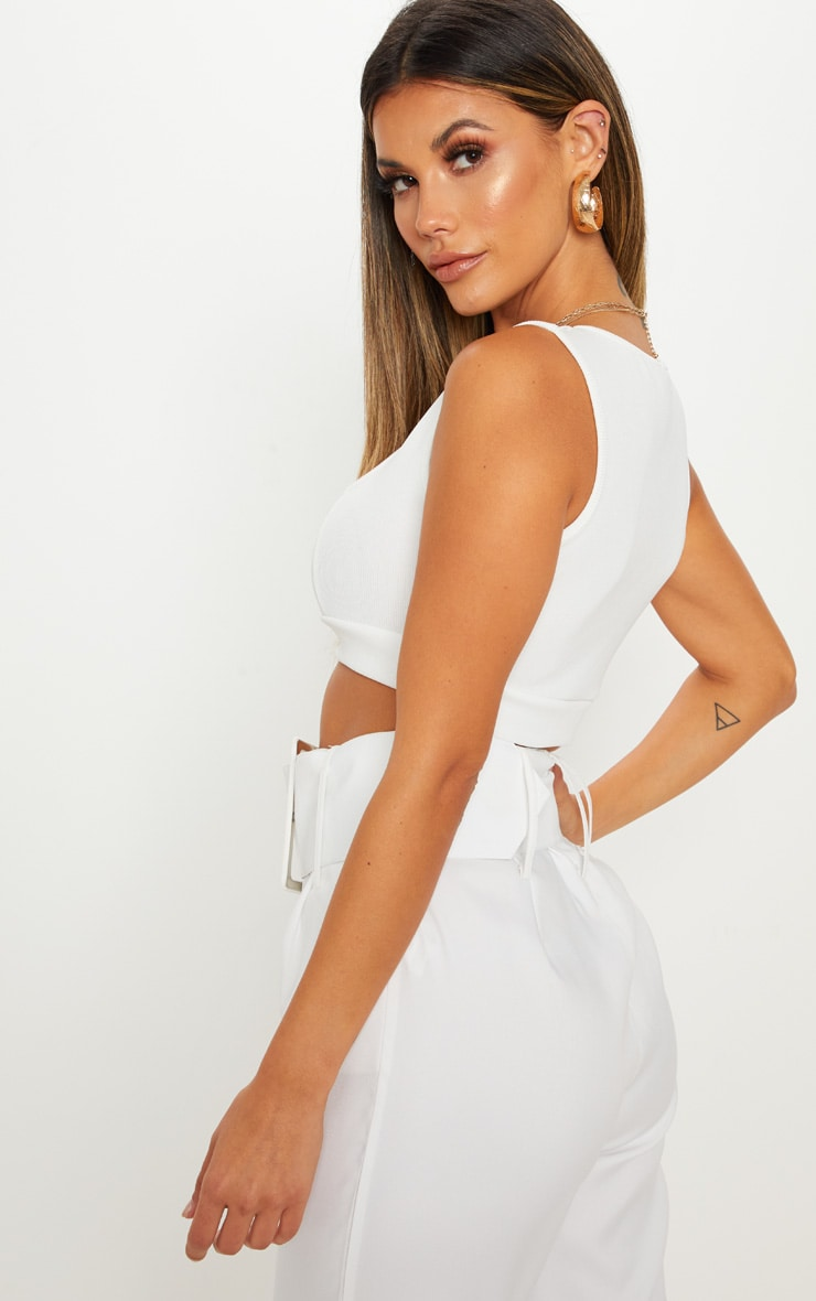 White Bandage Crop Top 3