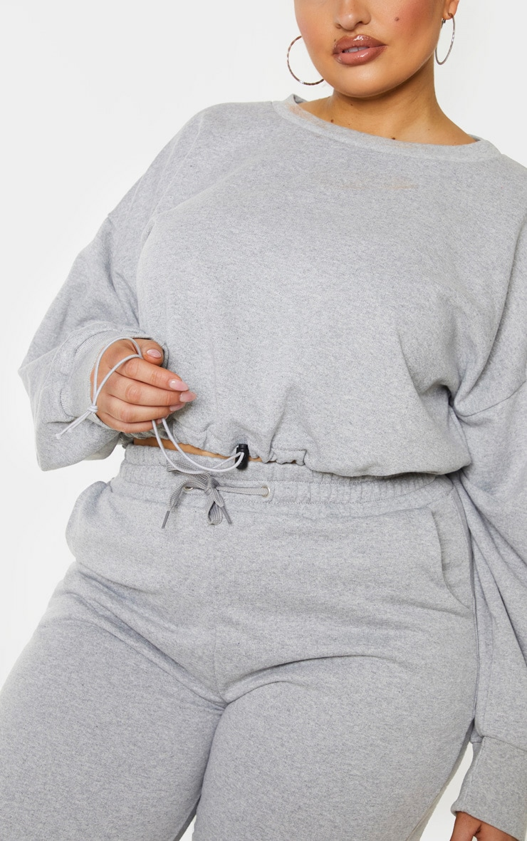 Plus Grey Basic Gym Sweat Top 5