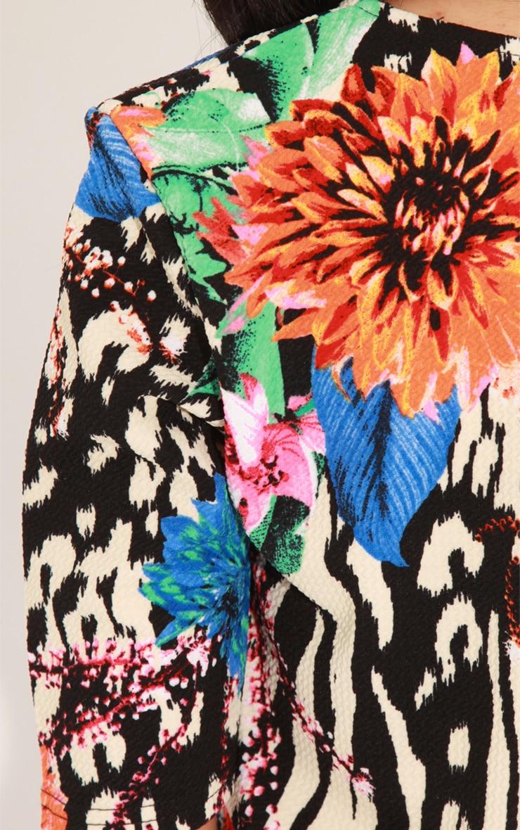 Kimberly Blue Floral Print Crop Top  5