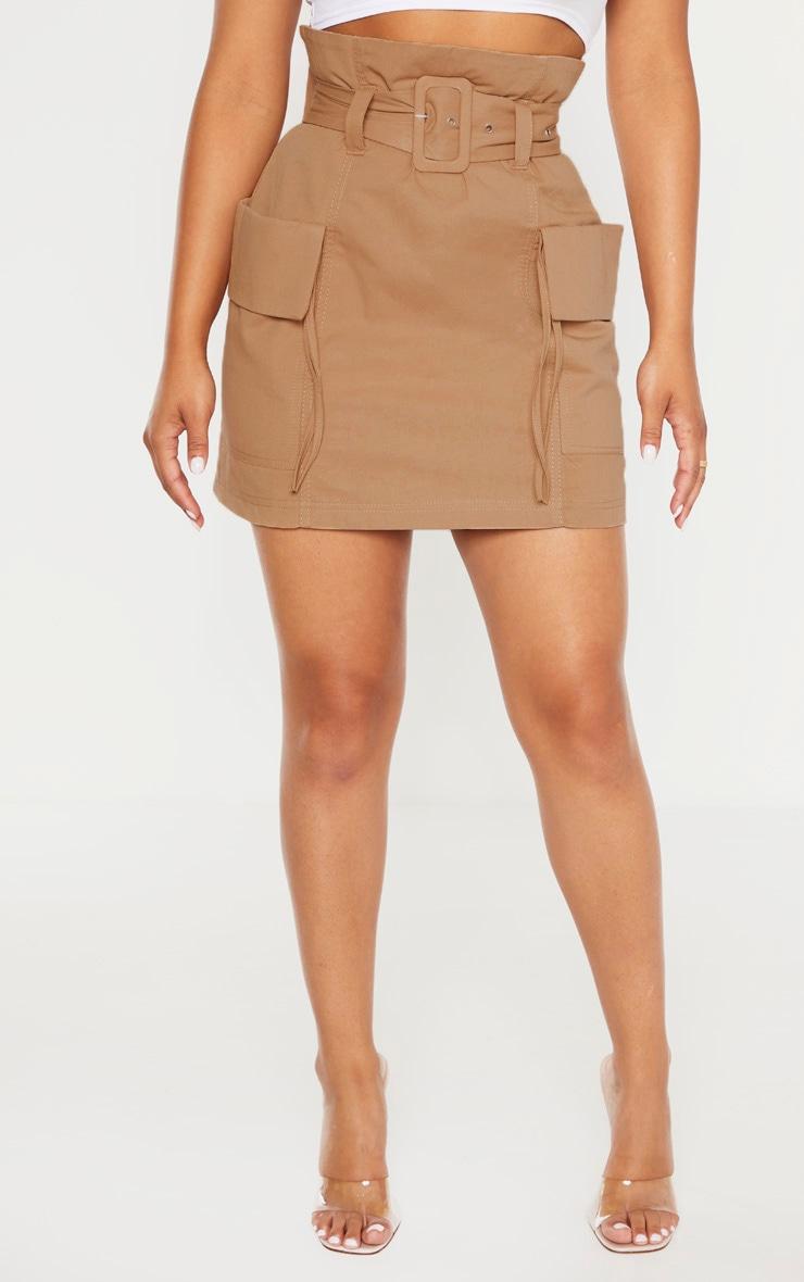 Petite Stone Belted Cargo Skirt 2