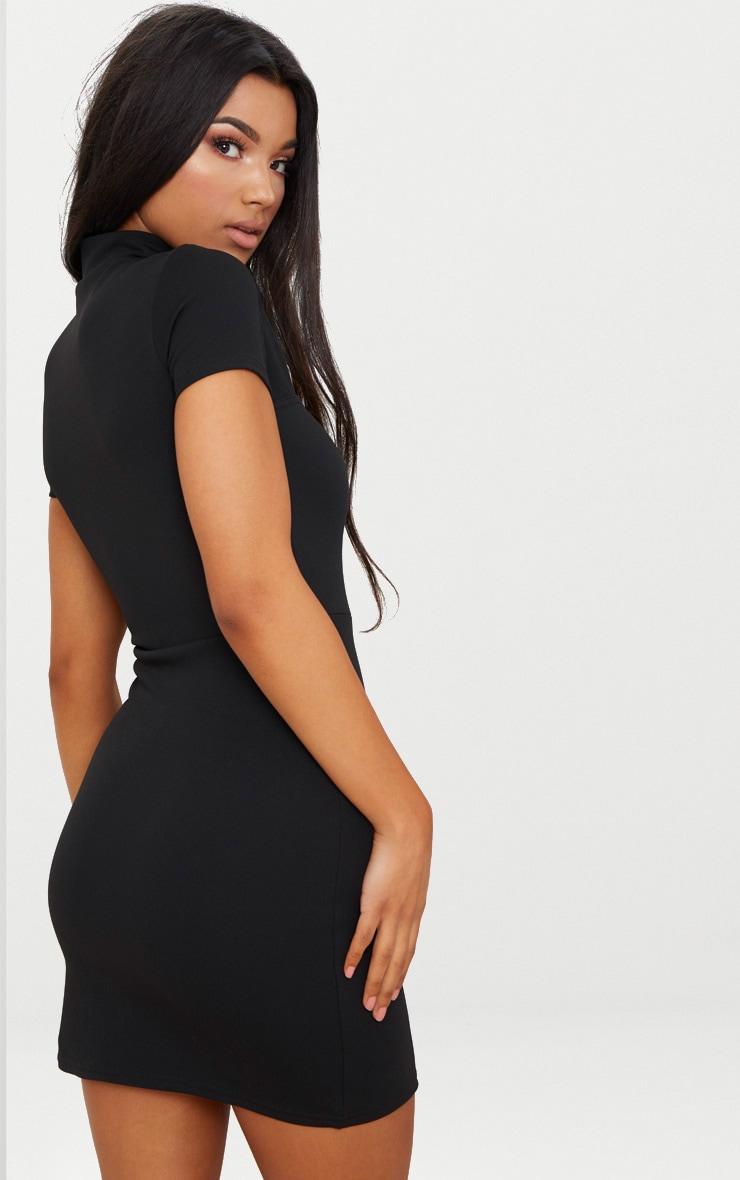 Black Oriental Bodycon Dress 2