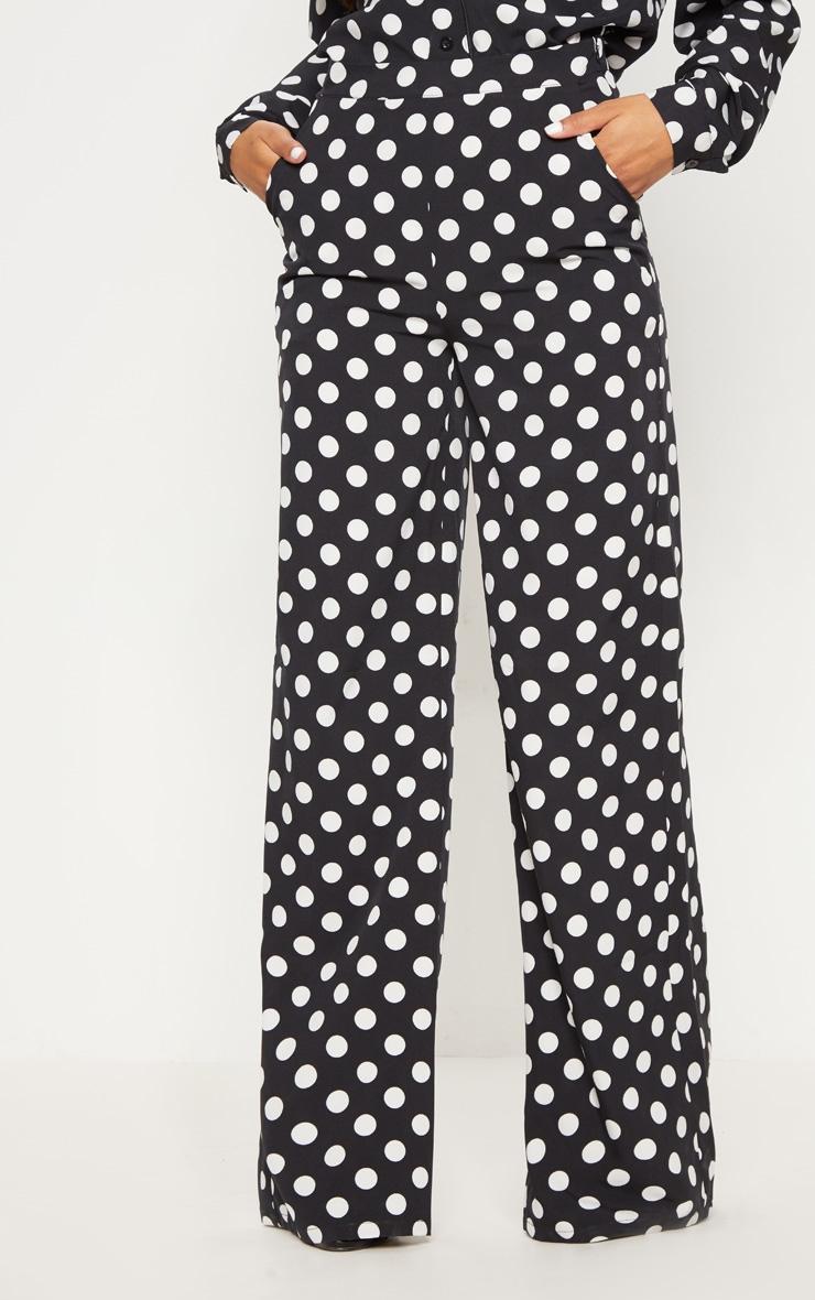 Black Polka Dot Wide Leg Pants 2