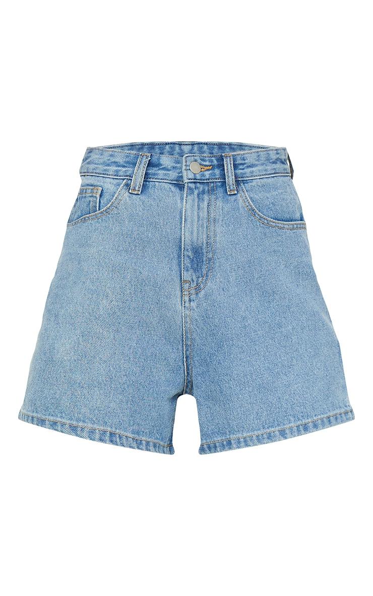 Light Blue Wash Mom Shorts 6