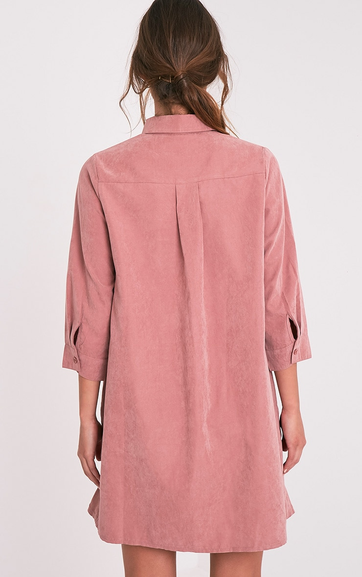 Leni Dusty Pink Shirt Dress 4