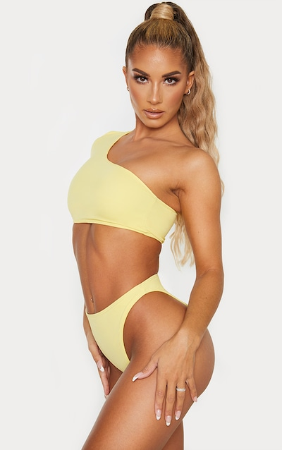 Lemon High Leg Cheeky Bikini Bottom