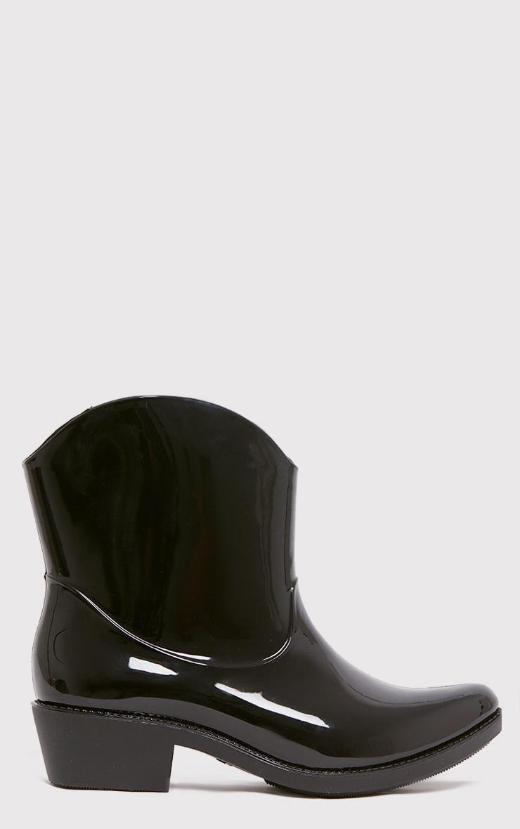 Kendrea Black Cowboy Rain Boots 2