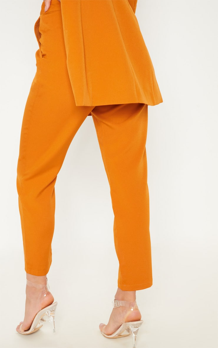 Pantalon de tailleur moutarde court 4