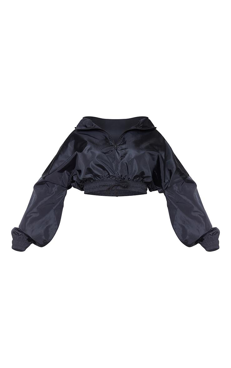 Plus Black Shell Half Zip Jacket 5