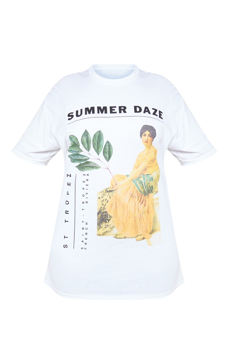 PLT Plus - T-shirt blanc à imprimé Summer Daze 3