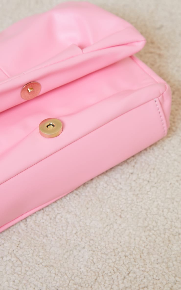 Pink Ruched Cross Body Bag 3