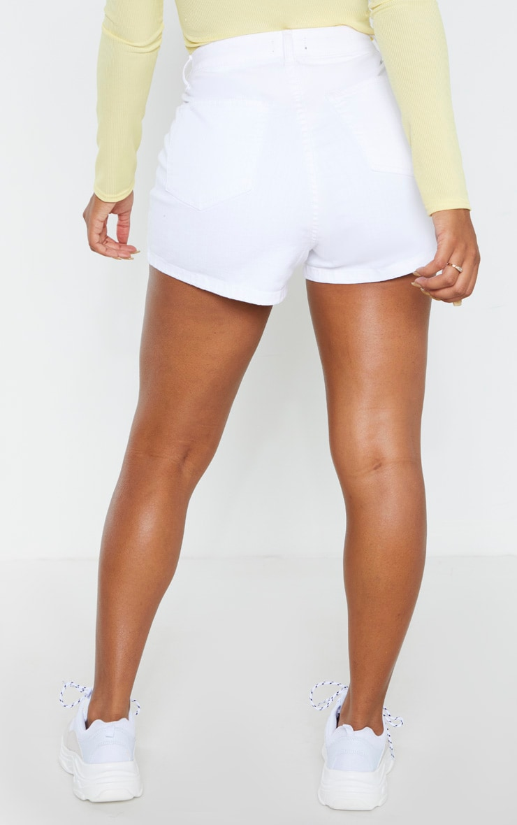 Shape White Disco Shorts 4
