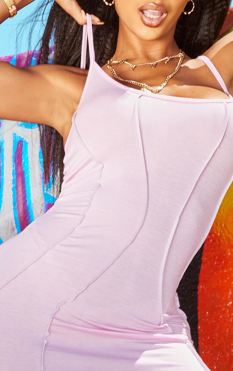 PRETTYLITTLETHING Shape Lilac Jersey Seam Detail Bodycon Dress 4