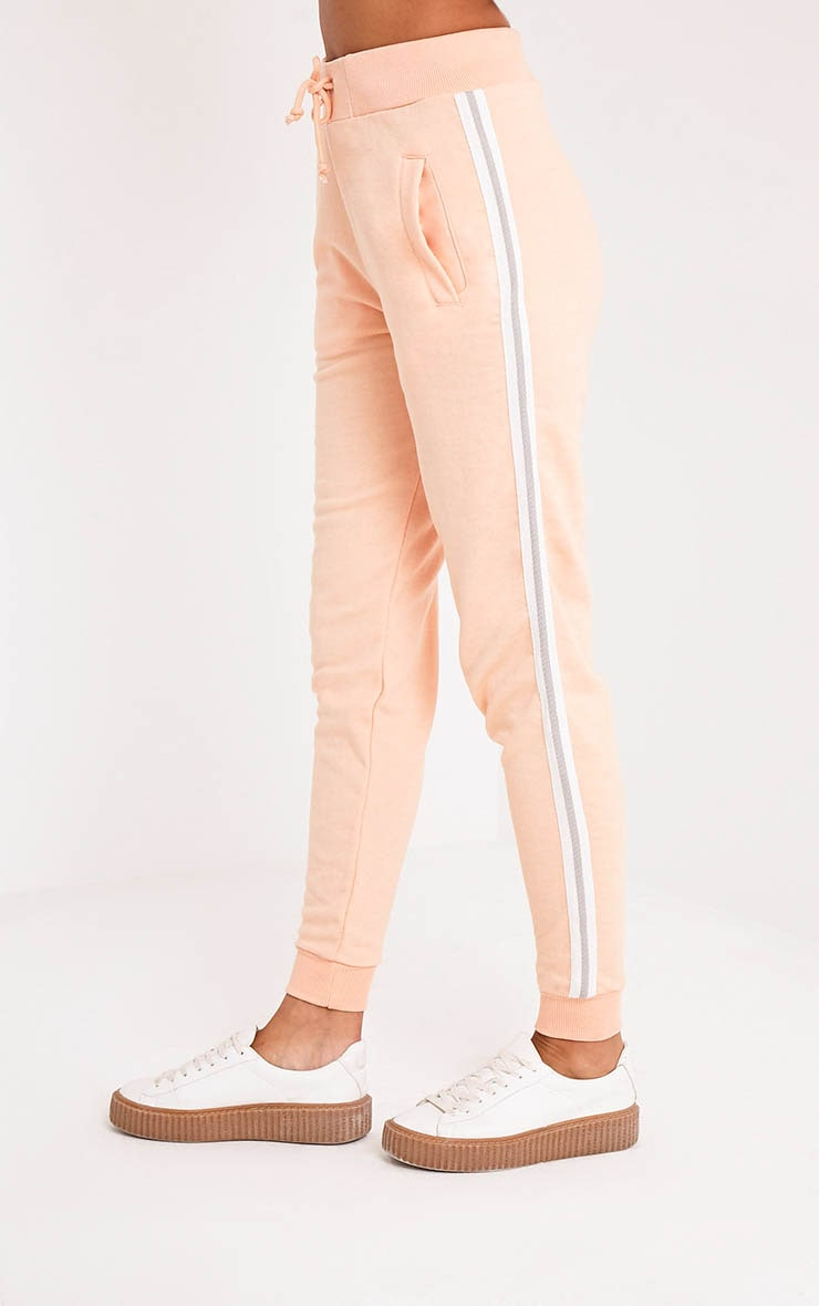 Gwen Nude Side Stripe Joggers 4