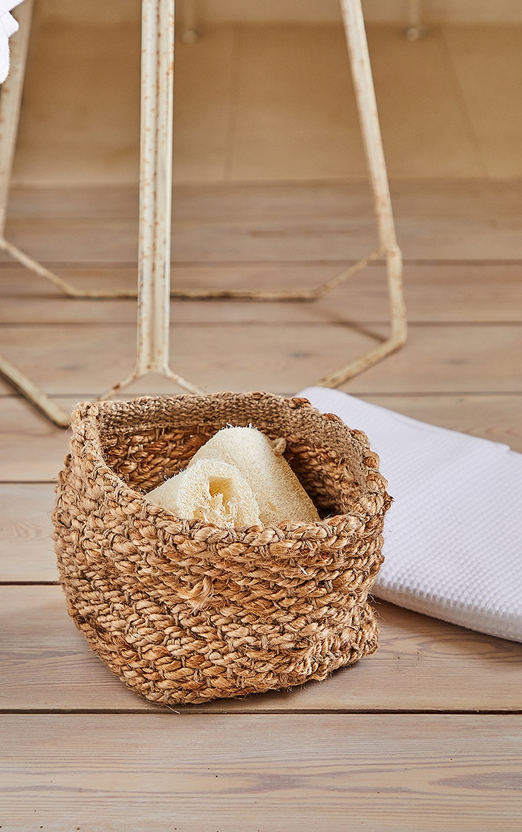 Natural Square Woven Basket 1