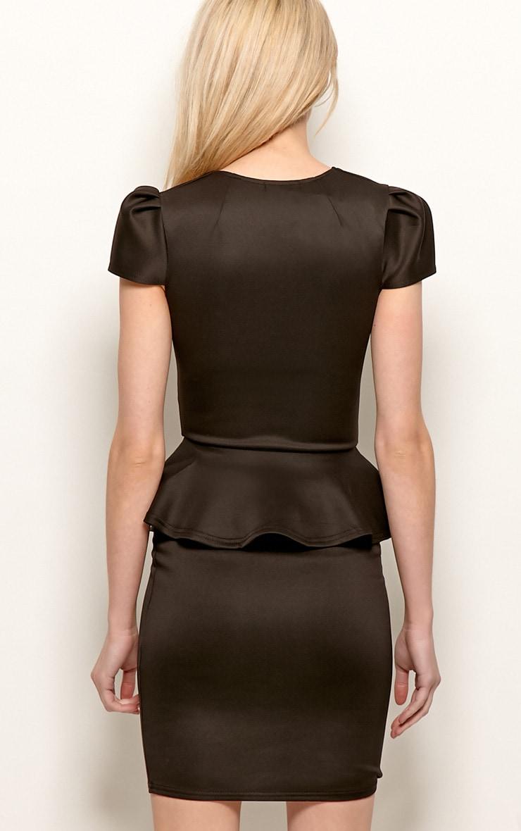 Black Peplum Dress 2