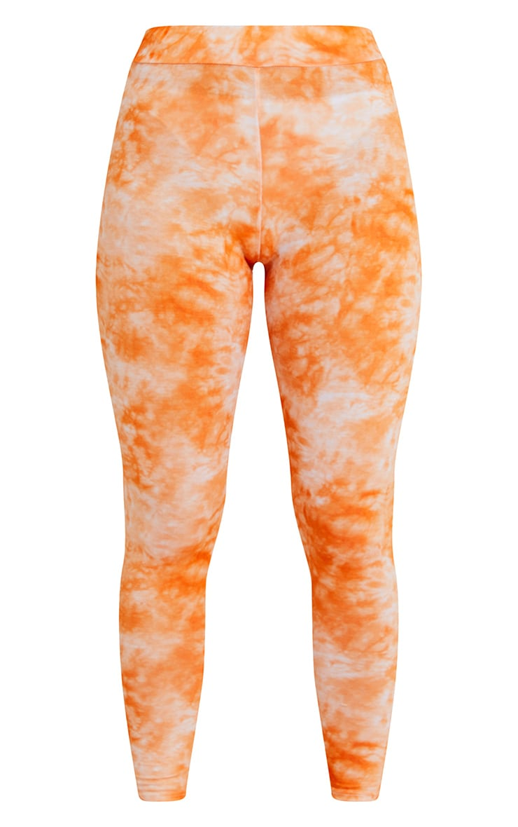 Orange Tie Dye Leggings 5
